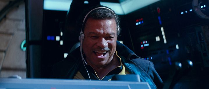 "Lando Calrissian (Billy Dee Williams) in ""Der Aufstieg Skywalkers"""