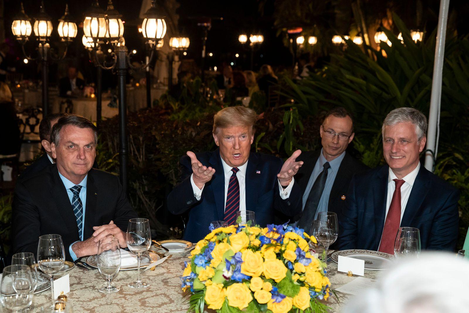 Donald Trump, Jair Bolsonaro, Robert O'Brien, Trump
