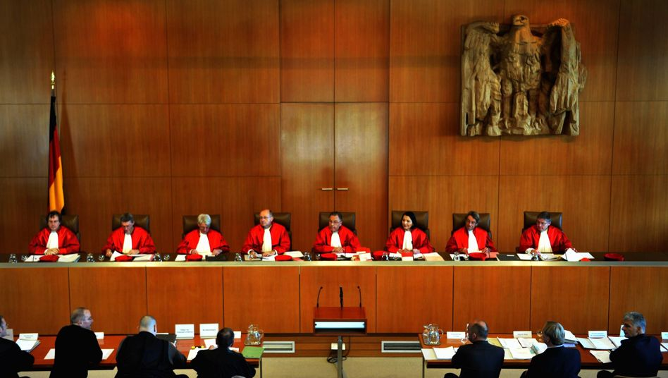 The judges of Germany's Federal Constitutional Court: will they throw a spanner in the works of the euro rescue?