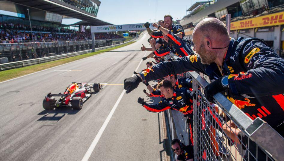 Red-Bull-Pilot Max Verstappen bei seinem Sieg in Österreich in der Saison 2019