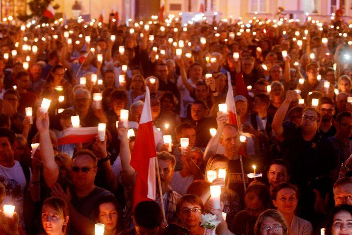 Protest gegen die polnische Justizreform in Warschau