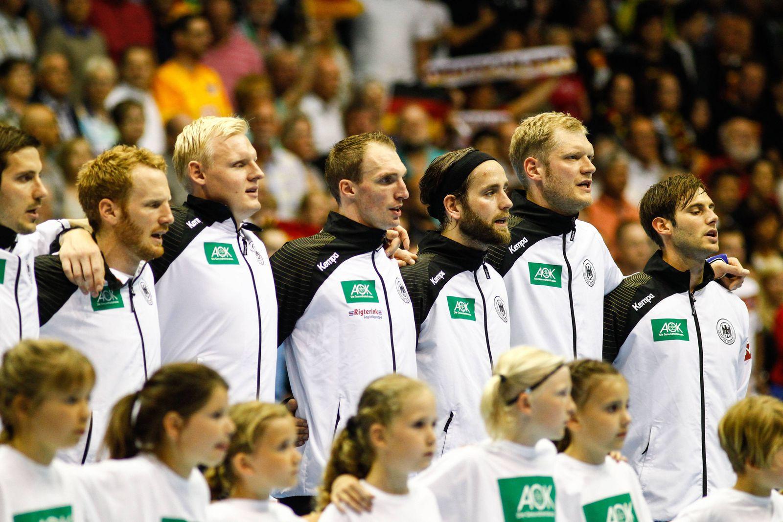 EINMALIGE VERWENDUNG Deutschland Handball NAtionallmannschaft 2014