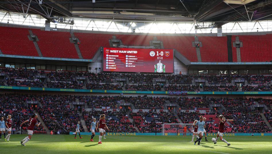 Wembley Stadion im Mai: FA-Cup-Finale der Frauen