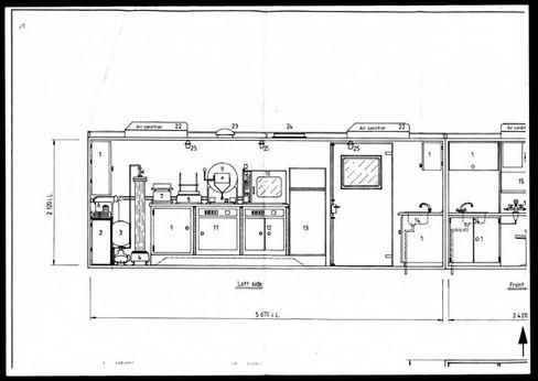 Konstruktionsplan des mobilen Labors