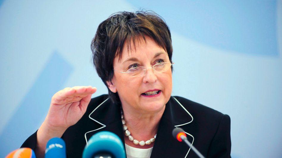 """Nicht einverstanden mit Googles Buchsuche: """"Erst tun, dann fragen"""" geht nicht, meint Bundesjustizministerin Brigitte Zypries"""