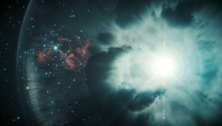 Explosion eines sterbenden Sterns: Dabei entstehen energiereiche Gammastrahlenblitze