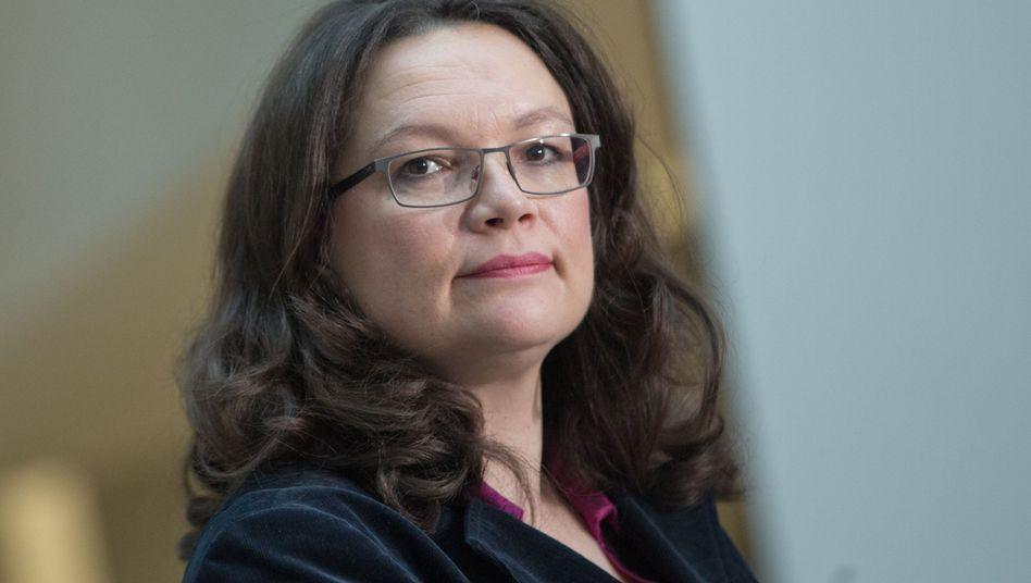 Bundesarbeitsministerin Nahles: Ausgebremst