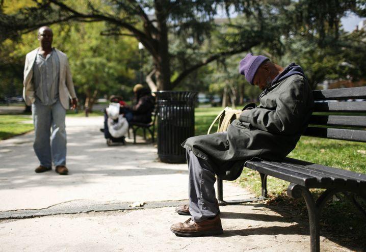 Obdachloser in Washington (Archivfoto)