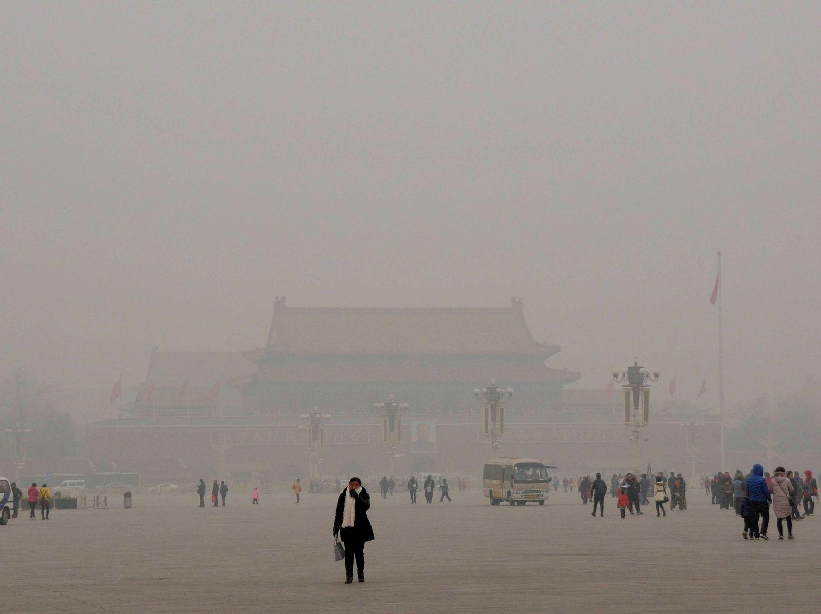 EINMALIGE VERWENDUNG Peking/ Smog