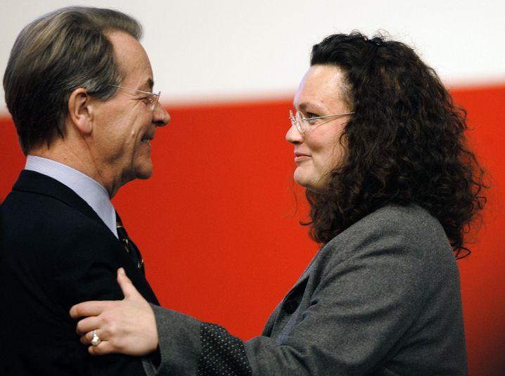 Sozialdemokraten Müntefering, Nahles 2005 Schwieriges Verhältnis