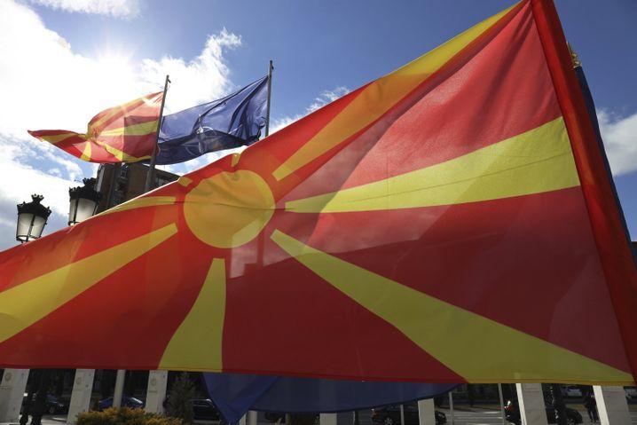 The North Macedonian flag
