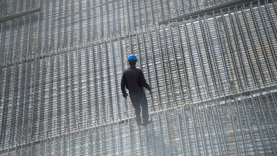 Arbeiter auf einer Baustelle in Berlin
