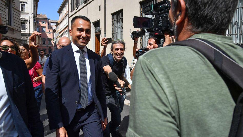 Luigi Di Maio, Parteichef der Fünf Sterne: Beide Parteien sind eigentlich tief zerstritten