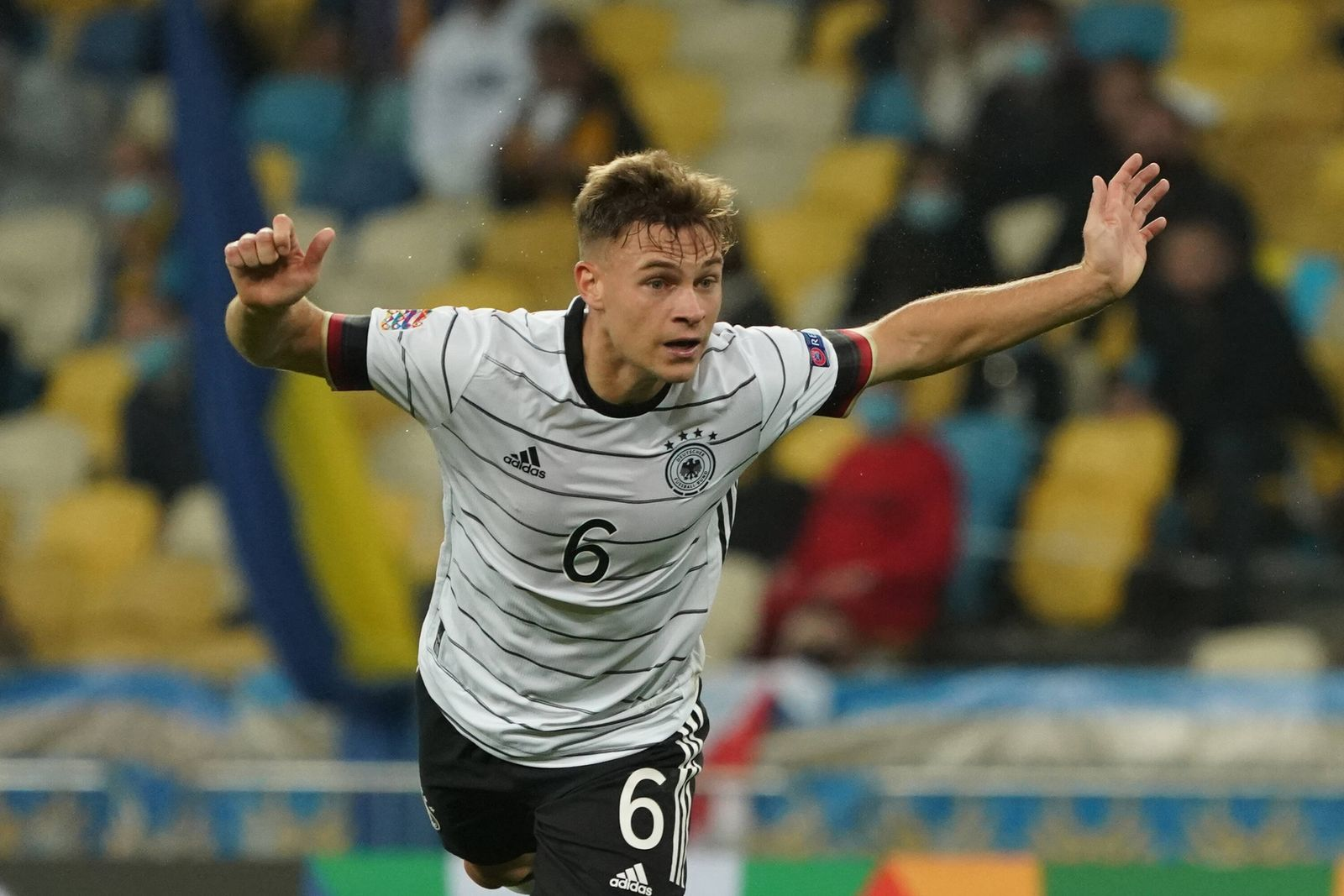 Joshua Kimmich (Deutschland Germany) - 10.10.2020: Ukraine vs. Deutschland, UEFA Nations League, 3. Spieltag, Olympiast