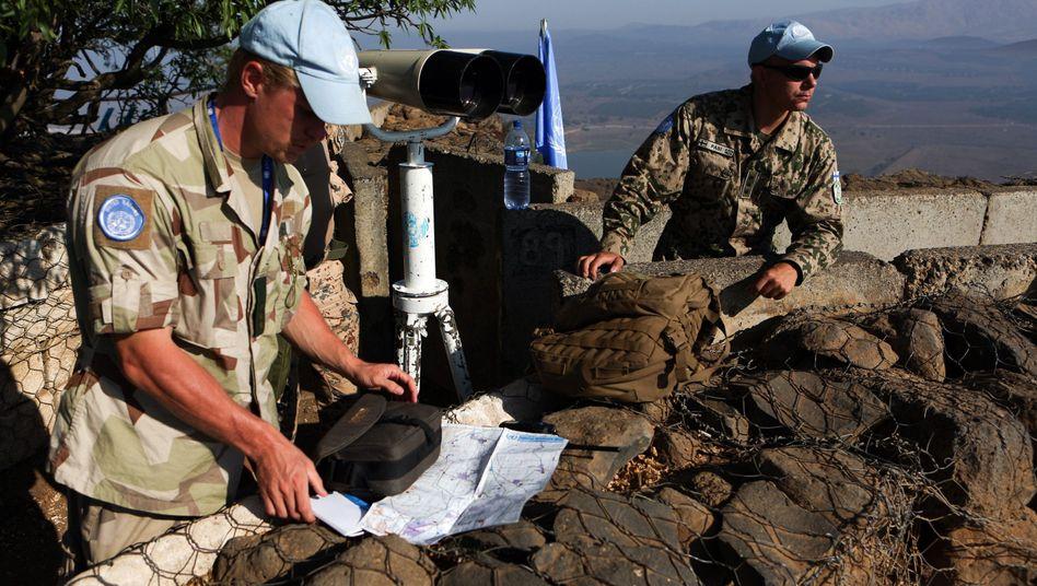 Uno-Soldaten auf den Golanhöhen