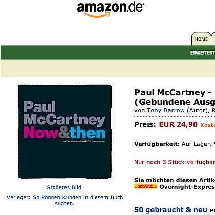 McCartney-Biografie: Coverlayout wie bei einem Kochbuch?