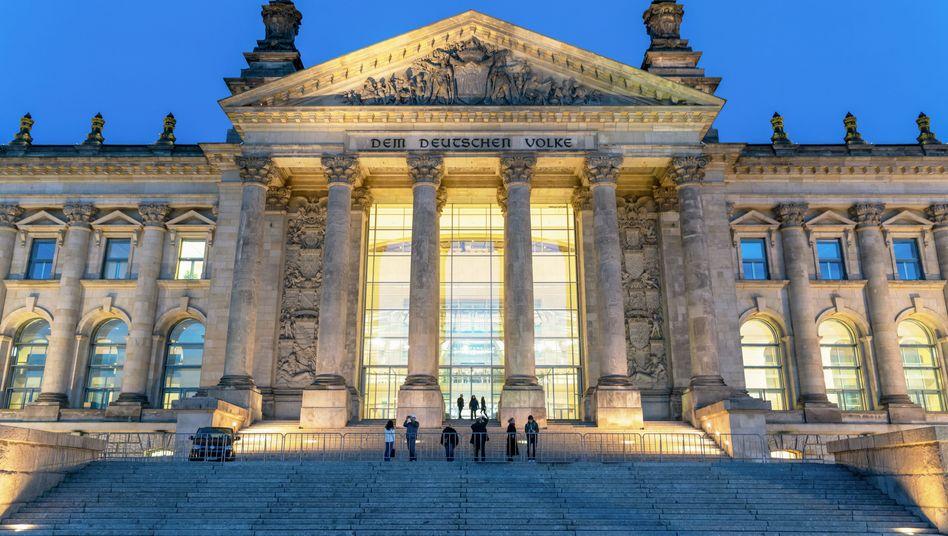 Reichstagsgebäude in Berlin, in dem der Bundestag sitzt