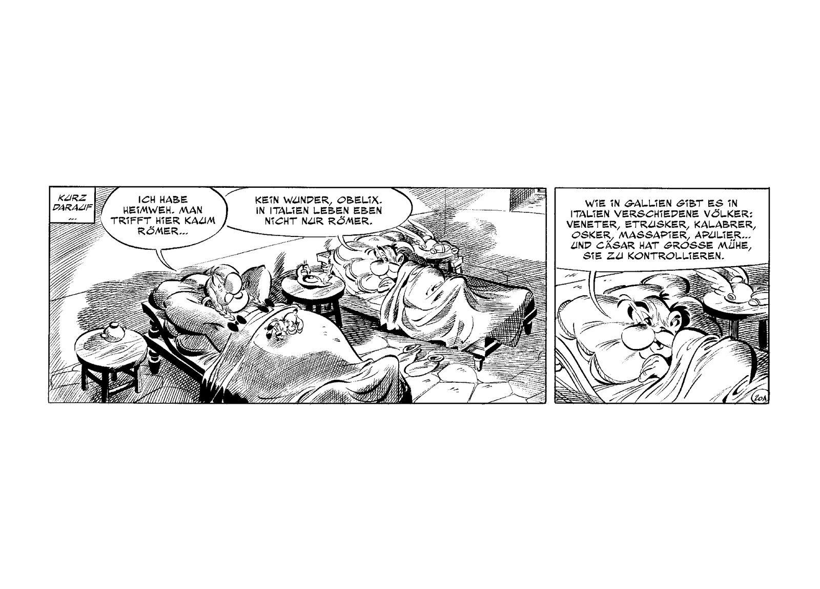 EINMALIGE VERWENDUNG Asterix in Italien