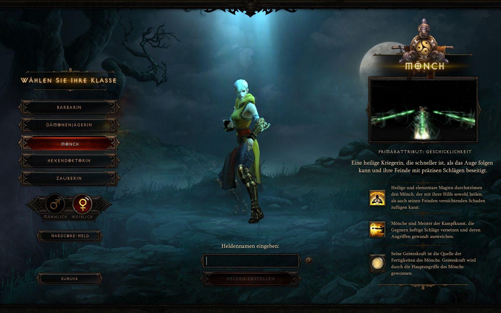 Screenshot Diablo 3 / Mönch