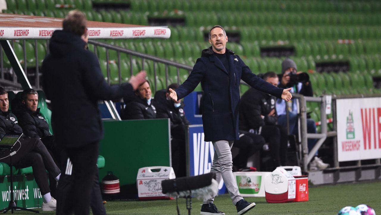 Trainerstreit bei Werder gegen Frankfurt: »Man muss dann auch mal mit Anstand verlieren können« - DER SPIEGEL