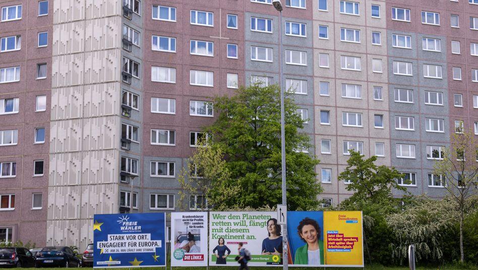 Wahlplakate in Erfurt