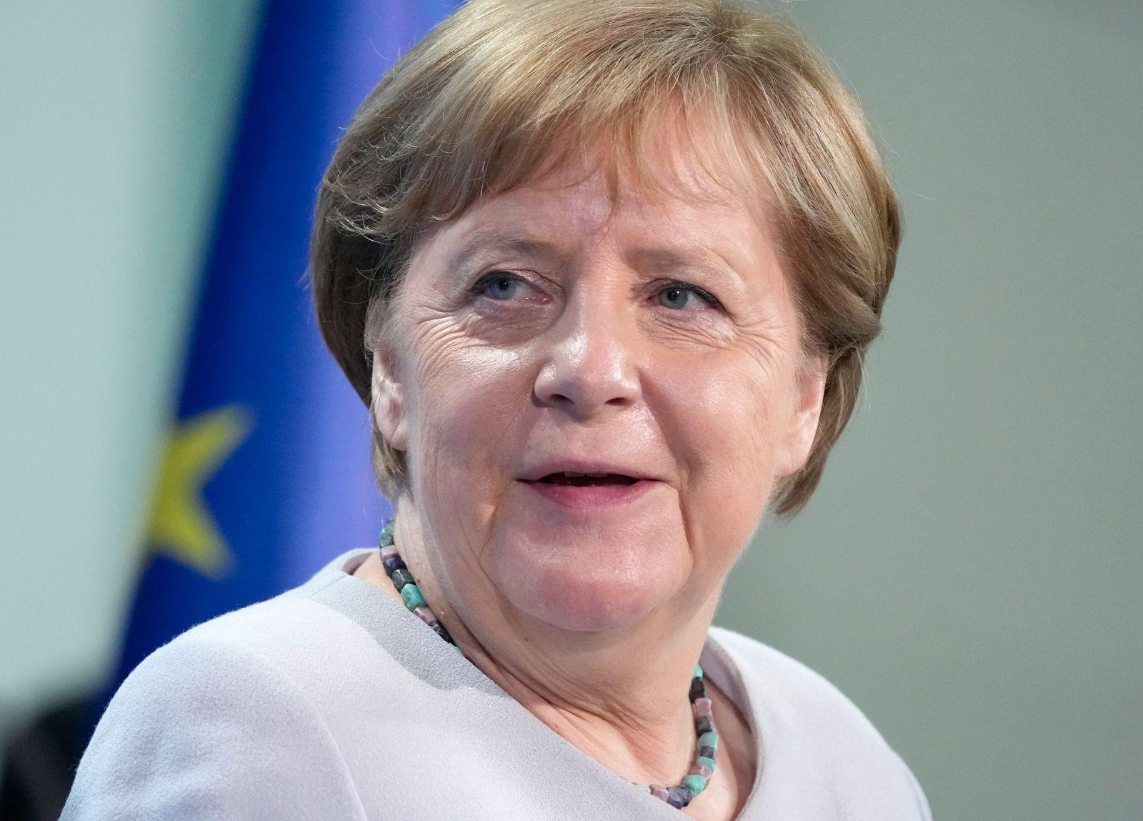 Ursula von der Leyen Meets With Angela Merkel In Berlin