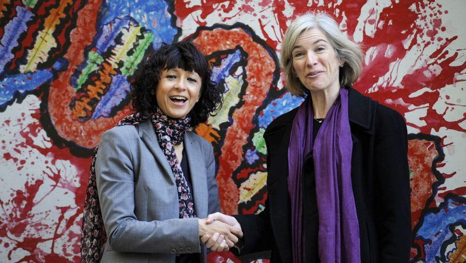 Emmanuelle Charpentier (l.) und Jennifer A. Doudna (r.): Der Nobelpreis gilt als höchste Auszeichnung für Wissenschaftler