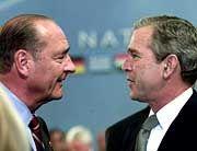 Chirac und Bush: Tauwetter zwischen Washington und Paris