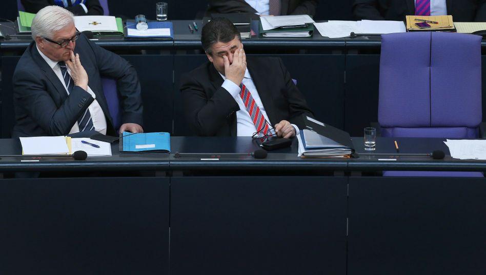 Außenminister Steinmeier, Vizekanzler Gabriel: Unterschiedliches Temperament