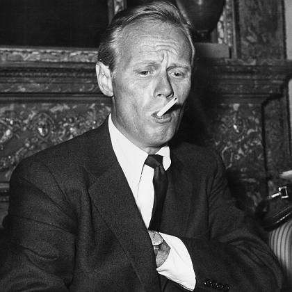 """Schauspieler Widmark (Foto aus dem Jahr 1958): """"Ich weiß, dass meine halbe Karriere auf Gewalt beruht, aber ich verabscheue Gewalt"""""""