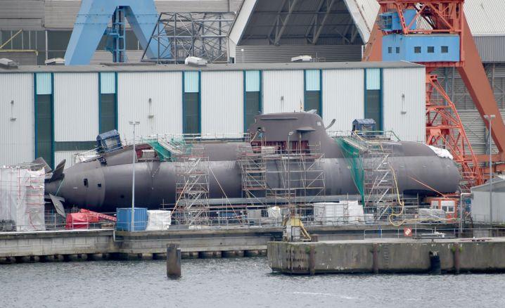 U-Boot-Werft von Thyssen Krupp Marine Systems in Kiel: Deutschland hat einen Anteil von zwei Prozent an den weltweiten Waffenverkäufen