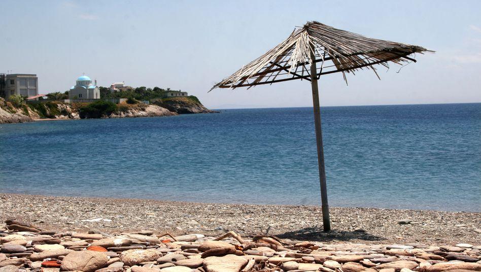 Strand in Griechenland: Nun bleiben auch noch die Touristen weg