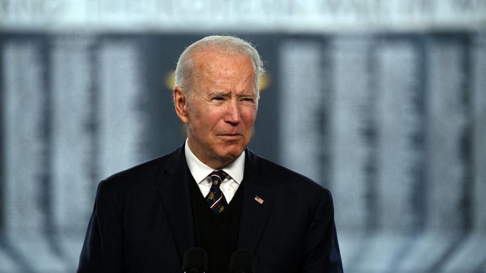US-Präsident Biden am Sonntag bei seiner Memorial-Day-Rede in New Castle, Delaware