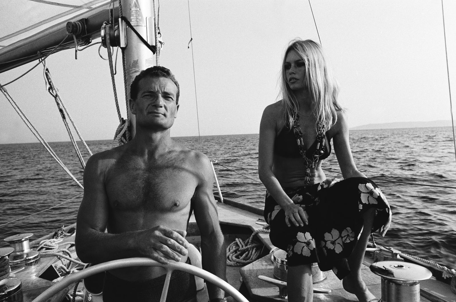 Eric Tabarly And Brigitte Bardot In Saint Tropez, France In August, 1968.