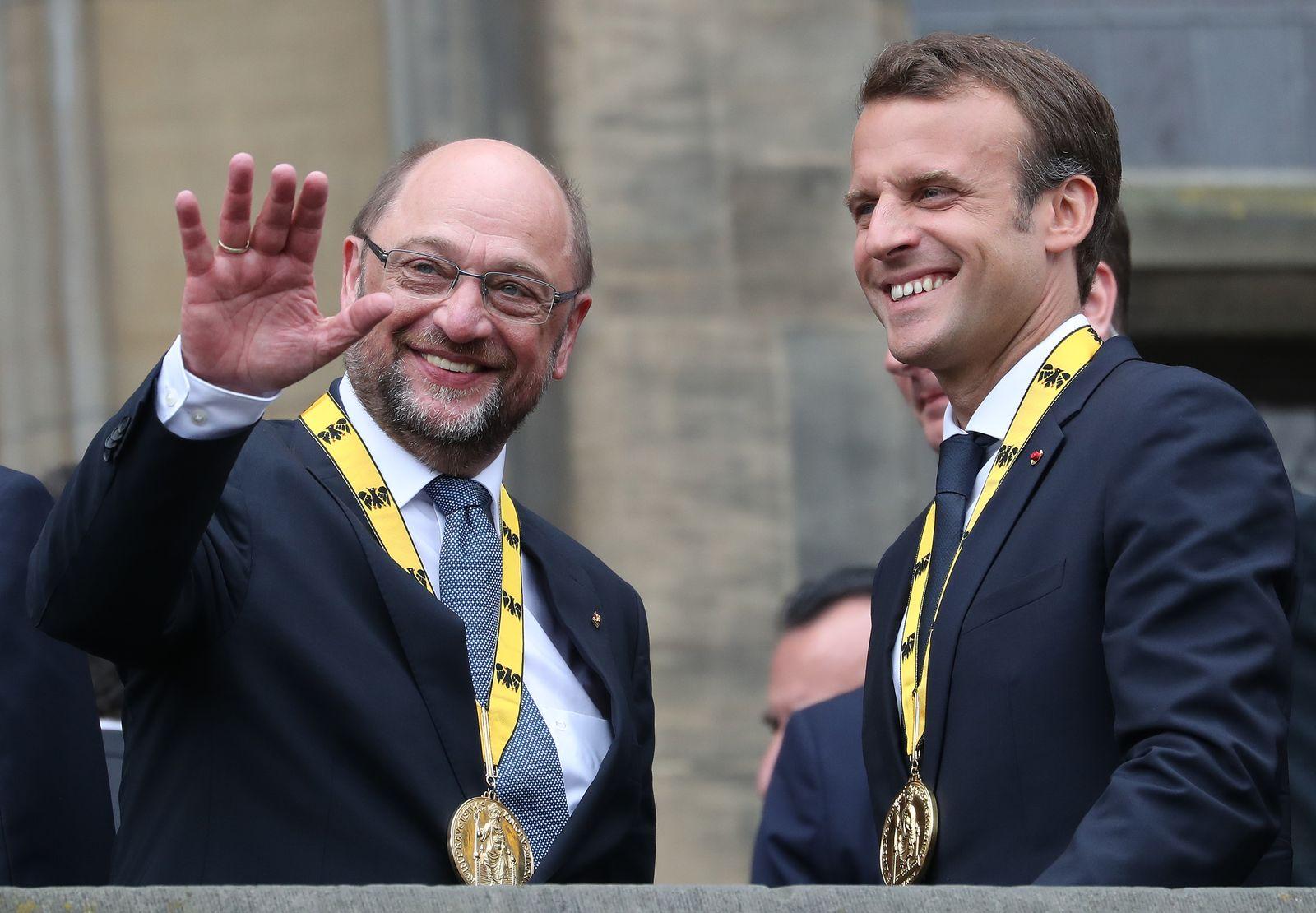 Schulz/ Macron