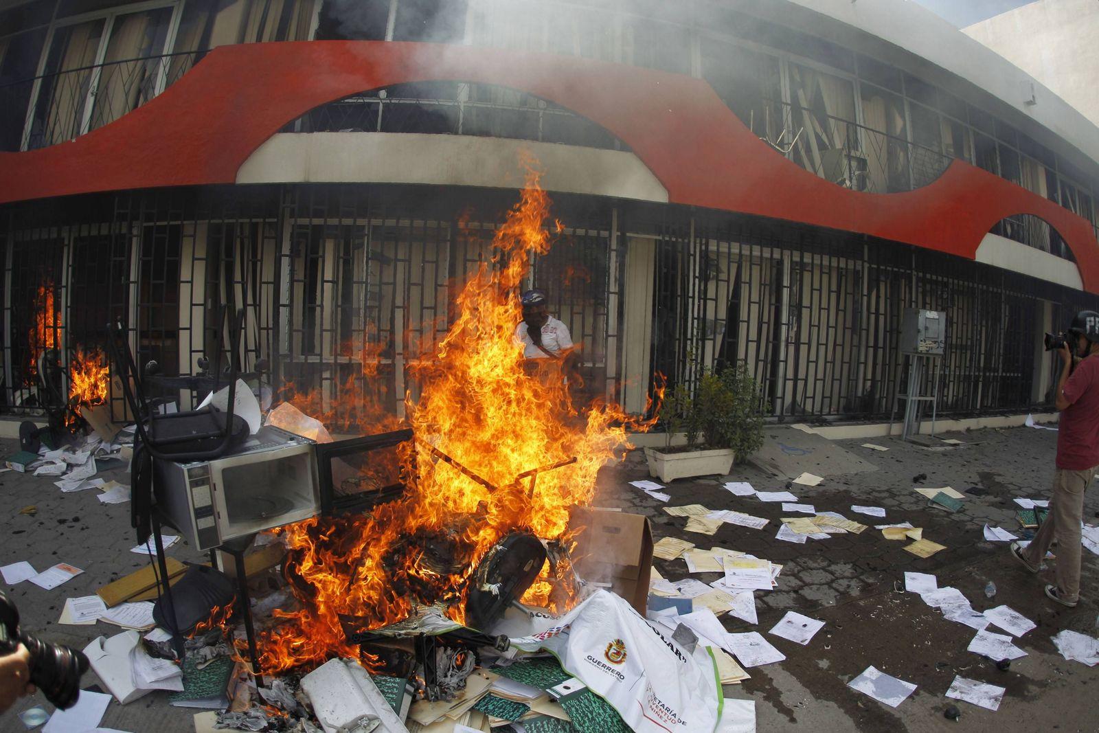 Mexiko Feuer Protest