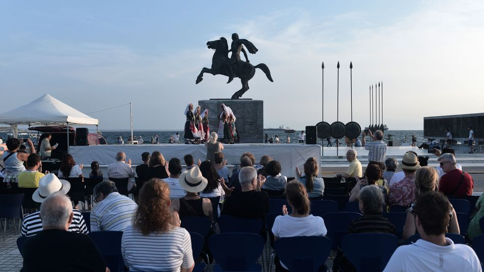 Statue von Alexander dem Großen in Thessaloniki