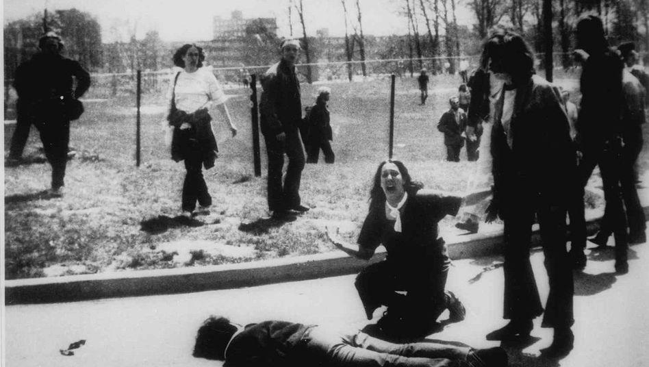 Campus der Kent-Universität im Jahr 1970: Die Nationalgarde erschoss damals vier Studenten