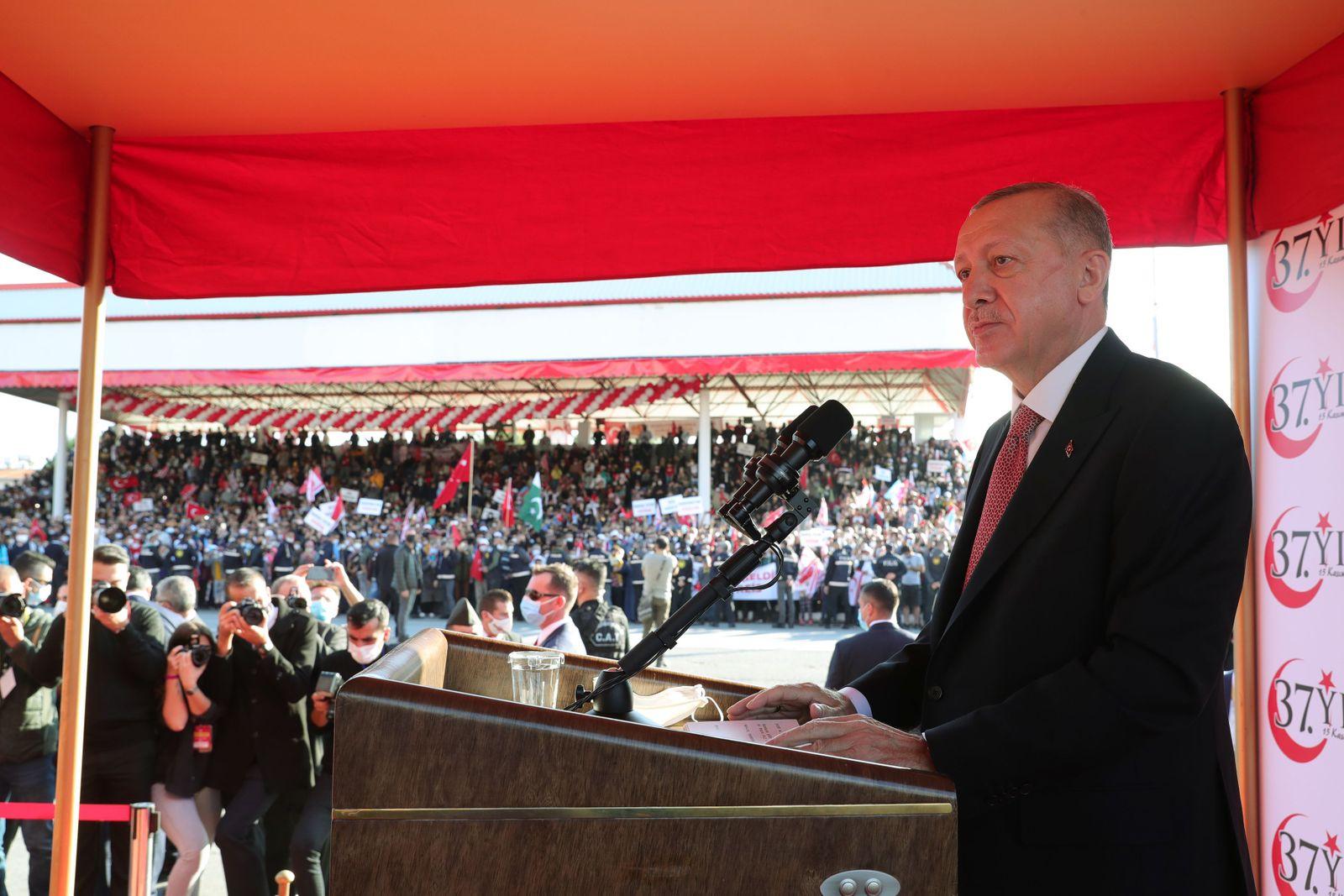 Turkish President Erdogan visits Turkish Cyprus, Nicosia - 15 Nov 2020