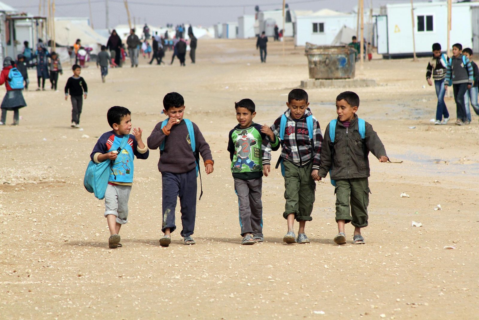 Syrische Flüchtlinge in Jordanien Flüchtlingskinder