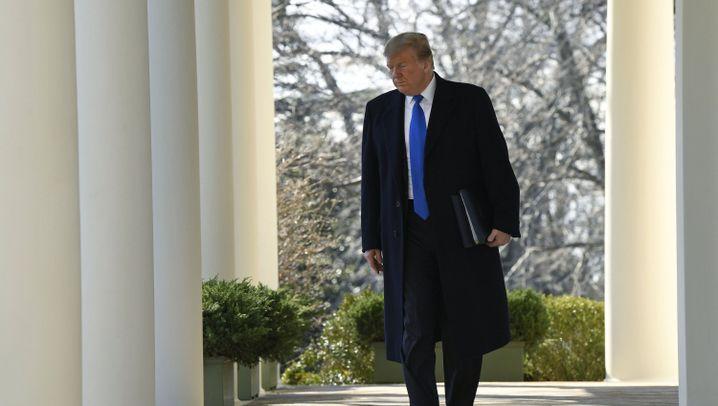 Trump im Grenzmauer-Streit: Kurz den Notstand erklärt - und ab nach Florida