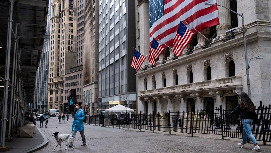 Wall Street: Straßen leergefegt, Anleger in Panik