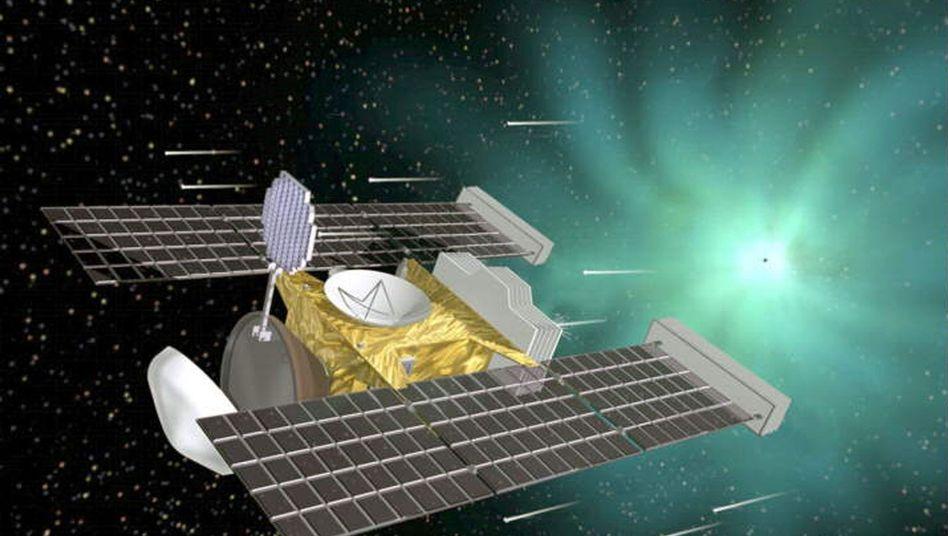 """""""Stardust"""" (grafische Darstellung): Auf dem Weg zum Kometen Tempel 1"""
