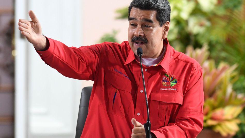 Venezuelas Präsident Maduro: Seit Monaten liefert er sich einem Machtkampf mit dem selbst ernannte Interimspräsident Guaidó