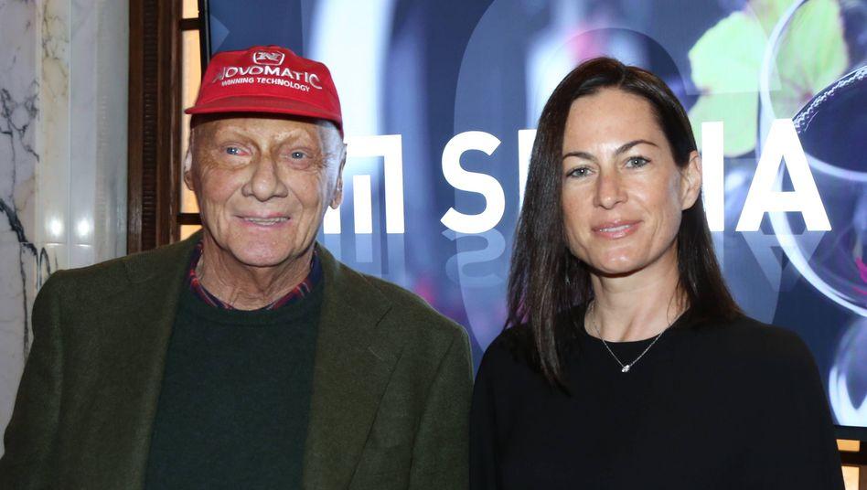 Birgit und Niki Lauda im Jahr 2018