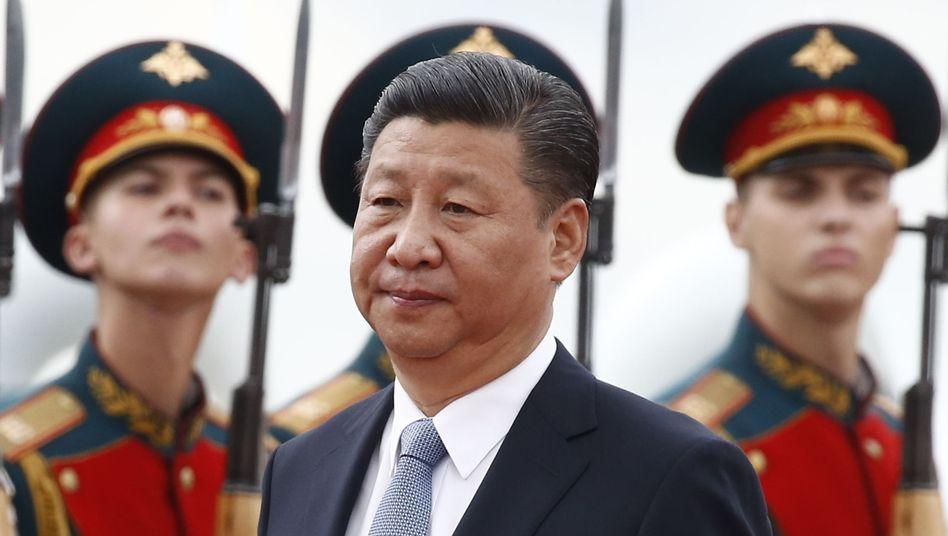 Präsident Xi (bei der Ankunft in Moskau)