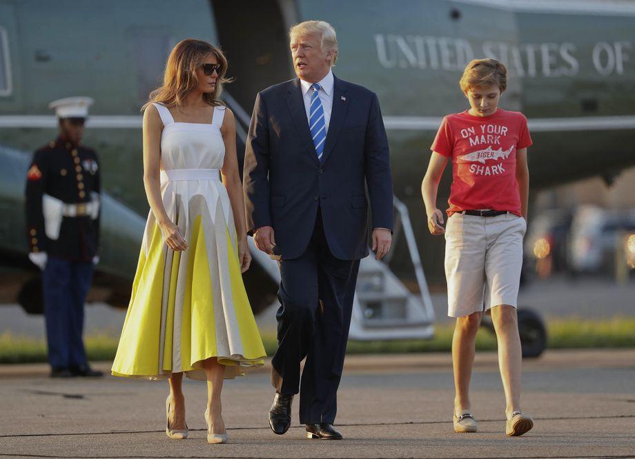Barron Trump Erst Die Schule Dann Ins Weisse Haus Der Spiegel