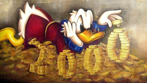 Ente mit Geld, kein Dax in Sicht