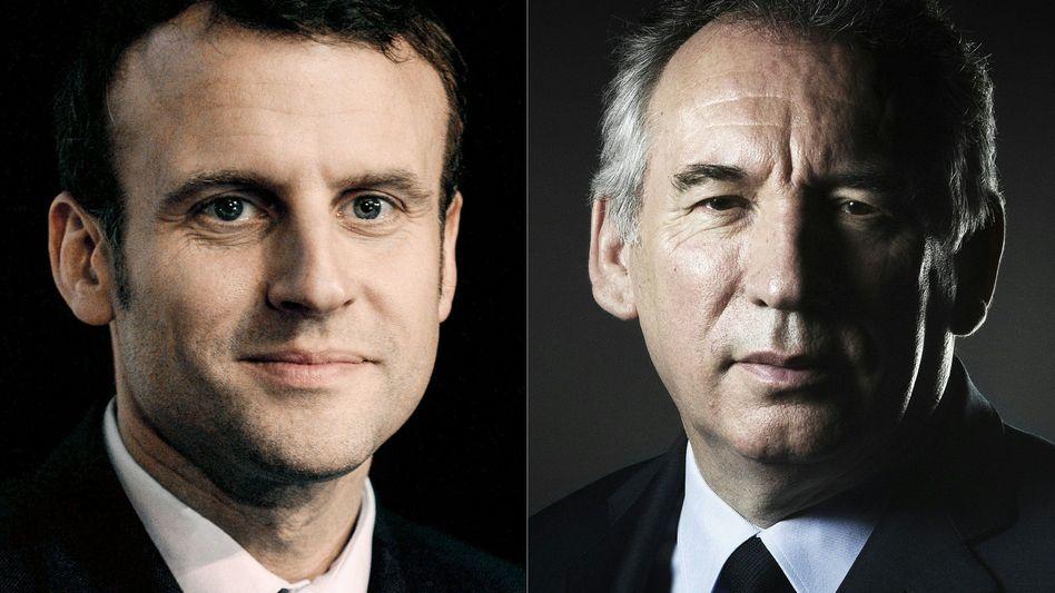 Präsident Macron (l.), Minister Bayrou