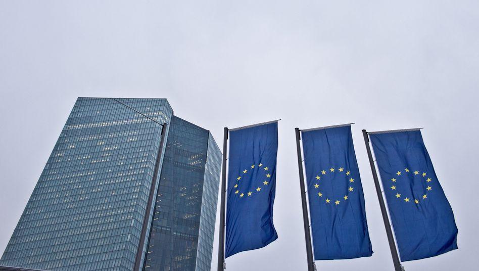 EZB-Zentrale in Frankfurt: Historischer Tag
